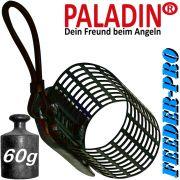 Paladin Feederkorb Futterkorb Pro Gewicht 60g Farbe Schwarz fürs Feederangeln auf Friedfische