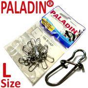 Paladin Spin Snap Einhänger in Größe L mit 10 kg Tragkraft 15 Stück im Set ideal für Hecht, Wels und Lachsangeln