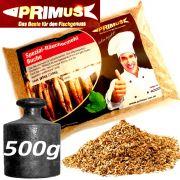Primus natürliches Spezial Räuchermehl aus gelagerter Buche ideal für Fleisch & Fisch Gewicht: 500g