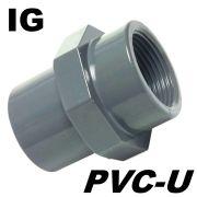 PVC-U Fitting Adapter Gewindemuffe Durchmesser 50mm Klebemuffe auf IG 1 1/2 Innengewinde ideal für Luftleitungen am Koiteich