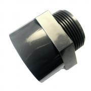 PVC-U Gewindemuffe mit Außengewinde Übergangsmuffe mit 63mm Klebemuffe auf 2 Außengewinde PVC Fitting PN 10 (10 bar) nach DIN 8063