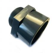 PVC-U Gewindemuffe mit Außengewinde Übergangsmuffe mit 110mm Klebemuffe auf 4 Außengewinde PVC Fitting PN 10 (10 bar) nach DIN 8063