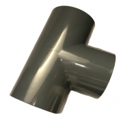PVC-U T-Stück 63mm 90 Grad mit Klebemuffen PN 10 nach DIN 8063 Formteil Fitting zum kleben