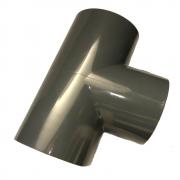 PVC-U T-Stück 50mm 90 Grad mit Klebemuffen PN 10 nach DIN 8063 Formteil Fitting zum kleben