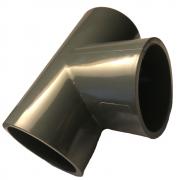 PVC-U T-Stück 40mm 90 Grad mit Klebemuffen PN 10 nach DIN 8063 Formteil Fitting zum kleben