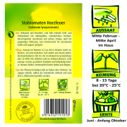 Quedlinburger Stabtomaten Sorte Harzfeuer F1-Hybride / Sehr guter Geschmack / Ernte Juni bis Anfang Oktober