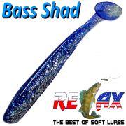Relax Bass Shad Gummifisch 90mm in Farbe Kristall Glitter Blau 5 Stück im Set Barsch & Zanderköder