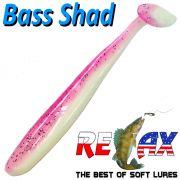 Relax Bass Shad Gummifisch 90mm in Farbe Reinweiss Heavy Pink Barsch & Zanderköder