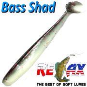 Relax Bass Shad Gummifisch 90mm in Farbe Rotauge 5 Stück im Set Barsch & Zanderköder
