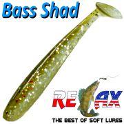 Relax Bass Shad Gummifisch 90mm in Farbe Zander 5 Stück im Set Barsch & Zanderköder