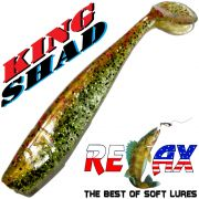 Relax King Shad 4 Gummifisch ca. 11cm Farbe Arkansas Chartreuse Pepper Zanderköder