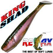 Relax King Shad 4 Gummifisch ca. 11cm Farbe Dark Night Trout Zanderköder