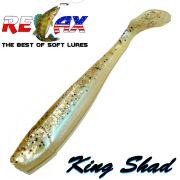 Relax King Shad Gummifisch ca. 11cm 4 Farbe Blauperl Kupfer Glitter 5 Stück im Set