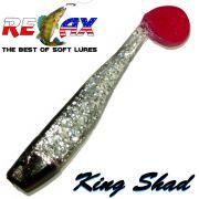 Relax King Shad Gummifisch ca. 11cm 4 Farbe Kristall Glitter Schwarz RT 5 Stück im Set
