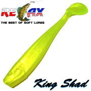 Relax King Shad Gummifisch ca. 11cm 4 Farbe Perl Fluogelb Zanderköder