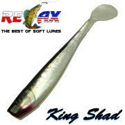 Relax King Shad Gummifisch ca. 11cm 4 Farbe Silber Perl Schwarz 5 Stück im Set