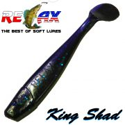 Relax King Shad Gummifisch ca. 11cm 4 Farbe Clear Violett Black Electric Zanderköder