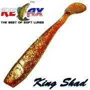 Relax King Shad Gummifisch ca. 11cm 4 Farbe Bernstein 5 Stück im Set