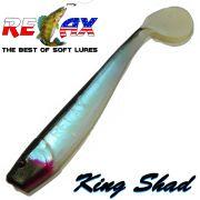 Relax King Shad Gummifisch ca. 11cm 4 Farbe Blauperl Schwarz 5 Stück im Set