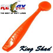 Relax King Shad Gummifisch ca. 11cm 4 Farbe Clear Orange 5 Stück im Set