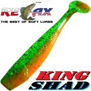 Relax King Shad Gummifisch ca. 11cm 4 Farbe Firetiger Zanderköder