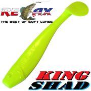 Relax King Shad Gummifisch ca. 11cm 4 Farbe Fluogelb Zanderköder