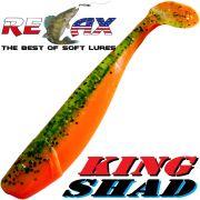 Relax King Shad Gummifisch ca. 11cm 4 Farbe Grün Glitter Orange Zanderköder