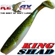 Relax King Shad Gummifisch ca. 11cm 4 Farbe Kaulbarsch Blauperl 5 Stück im Set Zanderköder