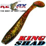 Relax King Shad Gummifisch ca. 11cm 4 Farbe Motoroil Glitter Zanderköder