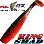 Relax King Shad Gummifisch ca. 11cm 4 Farbe Motoroil Orange Zanderköder