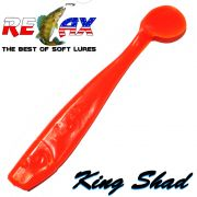 Relax King Shad Gummifisch ca. 11cm 4 Farbe Orange Zanderköder 5 Stück im Set