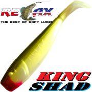 Relax King Shad Gummifisch ca. 11cm 4 Farbe Perl Olive Zanderköder