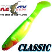Relax Kopyto 4L 4 Classic Gummifisch ca. 11cm Farbe Fluogelb Dunkelgrün 1 Stück