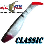 Relax Kopyto 4L 4 Classic Gummifisch ca. 11cm Farbe Silber Perl Glitter Schwarz RT 5 Stück im Set!