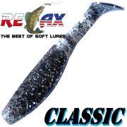 Relax Kopyto Classic 4L 4 Gummifisch 11cm Farbe Smoke mit Glitter