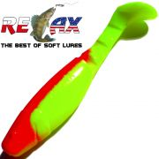 Relax Kopyto Classic 4L 4 Gummifisch ca. 11cm Farbe Fluogelb Rot 10 Stück im Set!