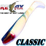 Relax Kopyto Classic 4L 4 Gummifisch 11cm Reinweiss Blau (S006) 10 Stück Barsch, Hecht & Zanderköder