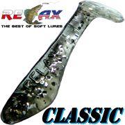 Relax Kopyto Classic Gummifisch 3,5 cm Kristall Glitter Schwarz