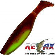 Relax Kopyto River 12,5 cm Fluogelb Motoroil Glitter