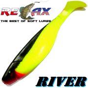 Relax Kopyto River 5 Gummifisch 12,5cm Farbe Fluogelb Schwarz 3 Stück im Set