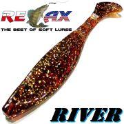 Relax Kopyto River 4 Gummifisch 10cm Farbe Bernstein 5 Stück im Set