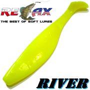 Relax Kopyto River 4 Gummifisch 10cm Farbe Fluogelb 5 Stück im Set