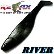 Relax Kopyto River 4 Gummifisch 10cm Farbe Schwarz 5 Stück im Set