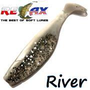 Relax Kopyto River 4 Gummifisch Länge 4 - ca. 10cm Farbe Salt&Pepper RS 5 Stück im Set!