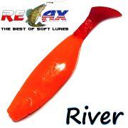 Relax Kopyto River 4 Gummifisch Länge 4 - ca. 10cm Farbe Orange RT 5 Stück im Set!
