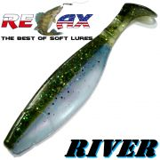 Relax Kopyto River 5 Gummifisch 12,5cm Kaulbarsch Blauperl 3 Stück im Set idealer Wels & Hechtköder