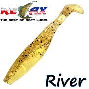 Relax Kopyto River 5 Gummifisch 12,5cm Farbe Goldperl Kristall Glitter