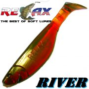 Relax Kopyto River 6 ca. 16cm Gummifisch Farbe Motoroil 3 Stück im Set