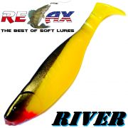Relax Kopyto River Gummifisch 10cm Gelb Schwarz 5 Stück im Set