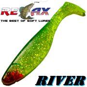 Relax Kopyto River Gummifisch 10cm Grün Glitter Dunkelgrün